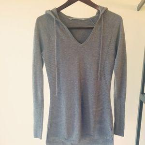 Athleta Merino Wool Soma Hoodie, Light Grey - XS
